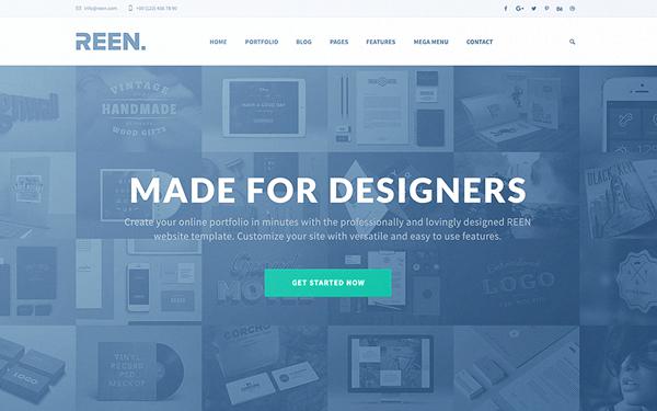 Portfolio Templates - REEN - <p>Portfolio for Designers</p>