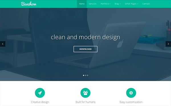banzhow responsive business theme wrapbootstrap