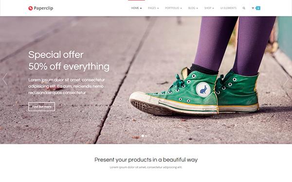 Landing Page Templates - Paperclip - <p>Premium Bootstrap Template</p>