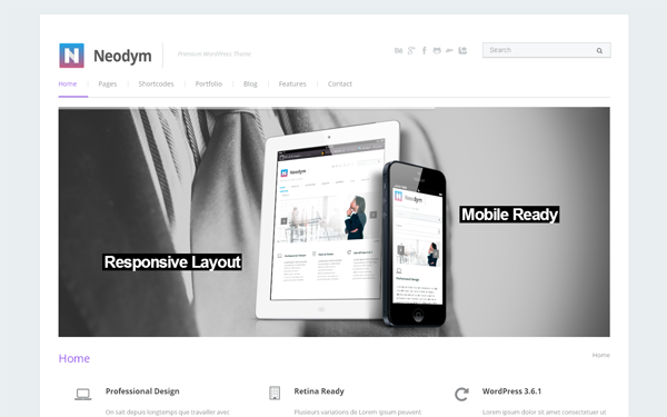 Blog Templates - Neodym - <p>Clean Wordpress Theme</p>