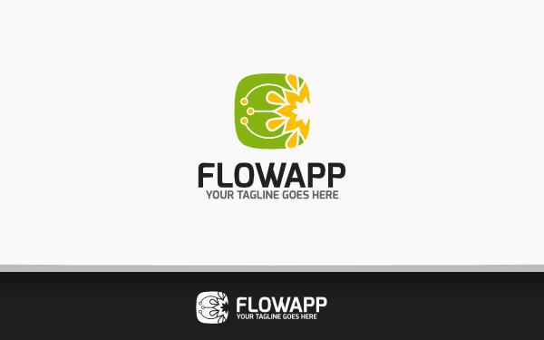 flow app logo by daisydec wrapbootstrap