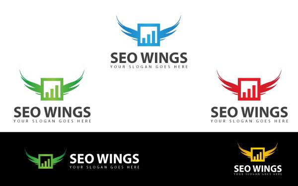 seo wings logo template by kazierfan wrapbootstrap