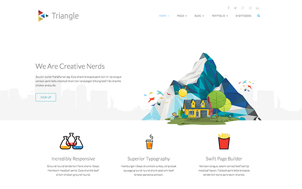 Portfolio Templates - Triangle - <p>A responsive business html template</p>