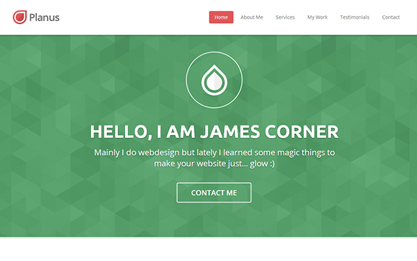 planus one page responsive template wrapbootstrap