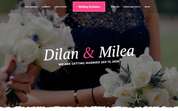 Milea Wedding Invitation Template Wrapbootstrap
