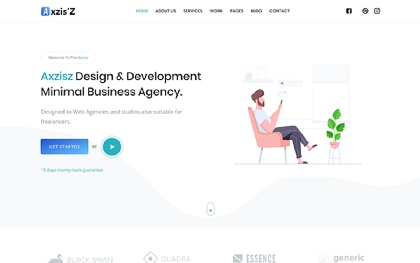 Axzisz - Startup Agency and SasS Template
