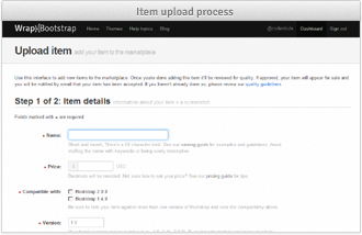 Item upload process