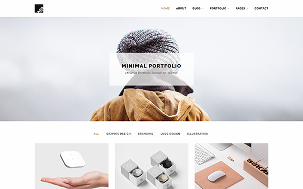 MP - Minimal Portfolio Theme - Live Preview - WrapBootstrap