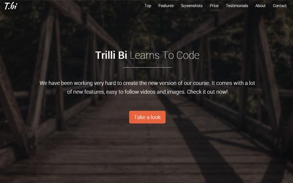 Trilli Bi - Fullscreen Landing Page - Live Preview - WrapBootstrap