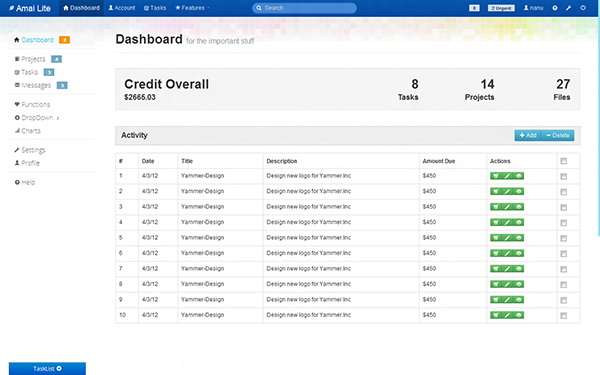 Amai admin admin dashboards wrapbootstrap for Simple html admin template
