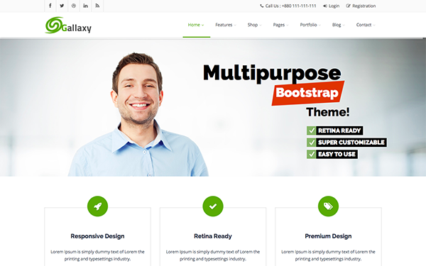 GALLAXY - Responsive Multipurpose Theme