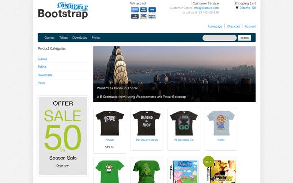 Bootstrap WooCommerce WordPress | WordPress | WrapBootstrap ...