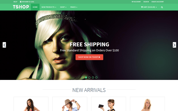 TSHOP - Responsive E-Commerce Template - Live Preview - WrapBootstrap