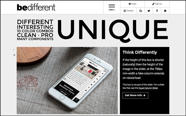 BeDifferent - Unique Website Template