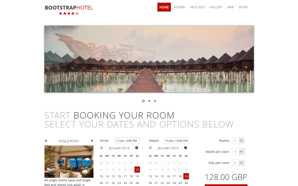 Bootstrap Hotel