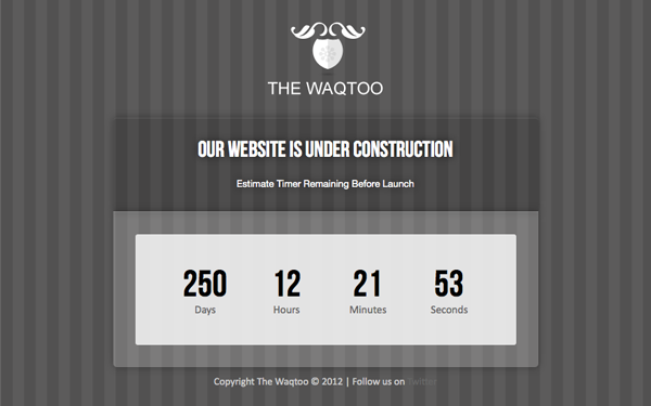 Waqtoo under construction page