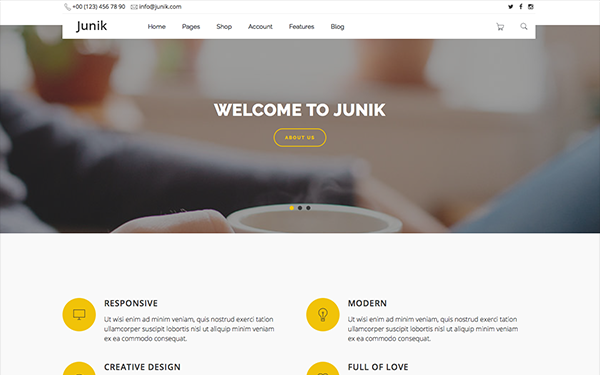 Junik - Responsive Multipurpose Template - Live Preview - WrapBootstrap