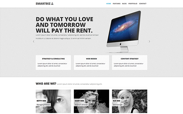 SmartBiz - Responsive Theme - Live Preview - WrapBootstrap