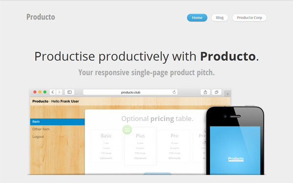 Producto - Live Preview - WrapBootstrap