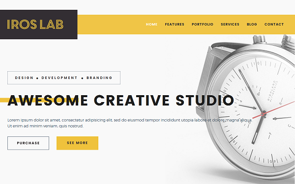 iRos - Creative Portfolio Template - Live Preview - WrapBootstrap