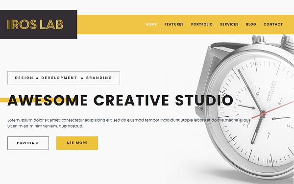 iros creative portfolio template wrapbootstrap
