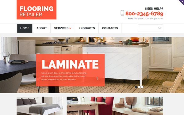 Flooring Retailer - Responsive Template - Live Preview - WrapBootstrap