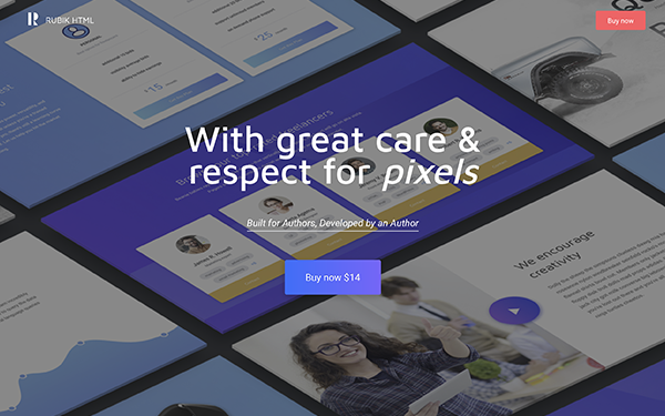 Rubik multipurpose landing template