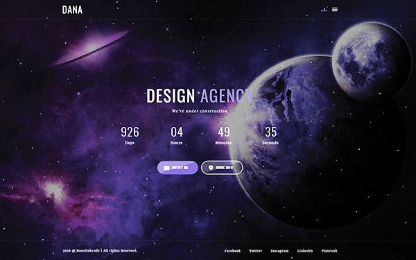 DANA - Creative Coming Soon Template - Live Preview - WrapBootstrap