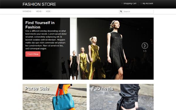 Fashion store e commerce wrapbootstrap maxwellsz