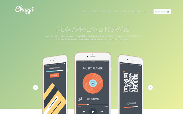 Chappi - Responsive App Landing Page