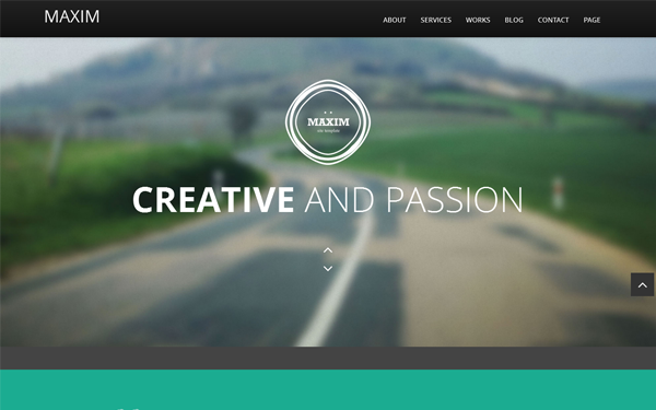 Maxim - Flat Scroll One Page Theme | Portfolios & Resumes ...