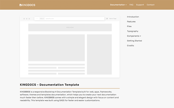 Kingdocs documentation template other bootstrap for Getbootstrap com templates
