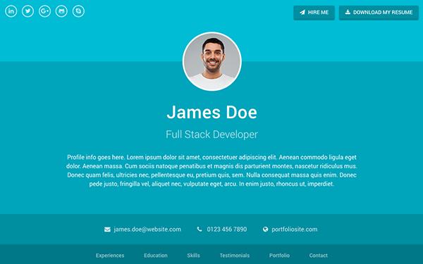 Sphere - Resume/CV (Bootstrap 4) | WrapBootstrap