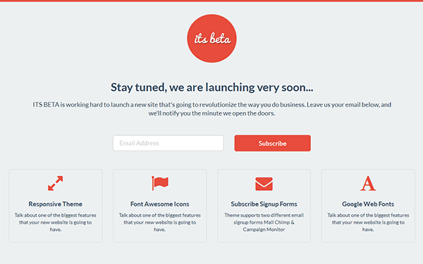 ITS BETA - Landing Page | Landing Pages | WrapBootstrap