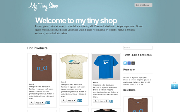 Bootstrap UI Kits - My Tiny Shop - <p>E-Commerce Theme</p>