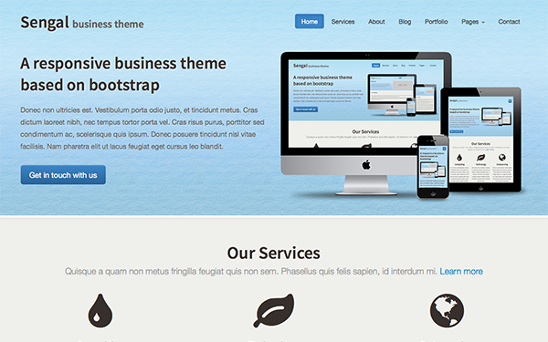 Sengal Responsive Business Theme
