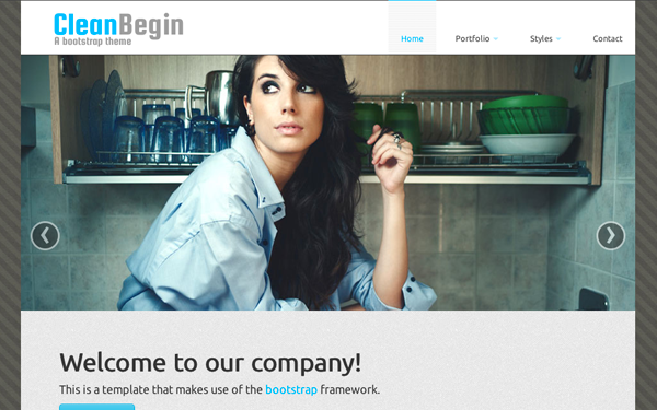 CleanBegin - Company Template - Live Preview - WrapBootstrap
