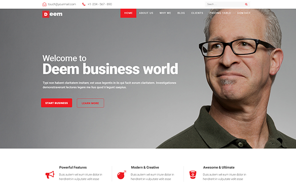 Deem - Multipurpose Business Template