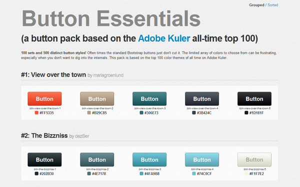 Button Essentials - Button Pack