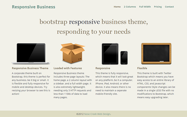 Responsive Business - Live Preview - WrapBootstrap