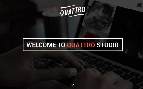 Quattro | Elegant One-Page Template - Live Preview - WrapBootstrap