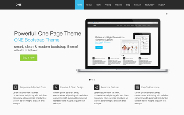ONE Bootstrap Theme