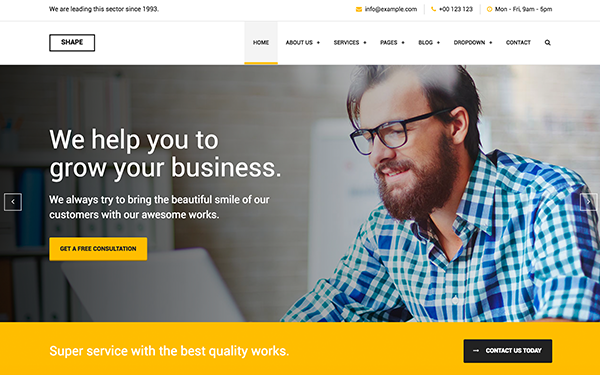 Shape - Business Template for All Niche - Live Preview - WrapBootstrap