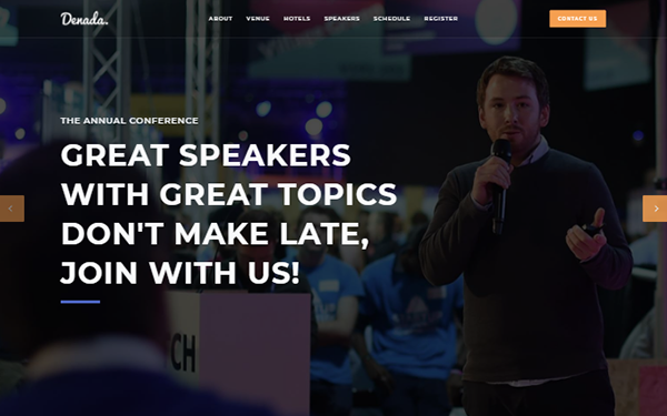 DOWNLOAD - Denada - Conference & Event Landing Page