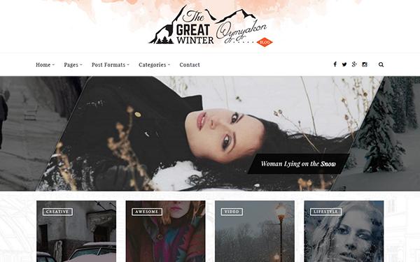 Oymyakon - WordPress Blog Theme - Live Preview - WrapBootstrap