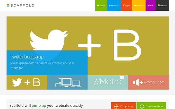 Scaffold - Metro Style Template - Live Preview - WrapBootstrap