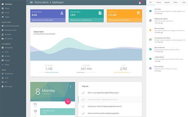 PLUMO - Clean Admin Theme - Live Preview - WrapBootstrap