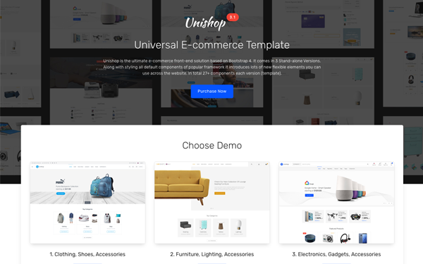 Unishop universal e commerce template