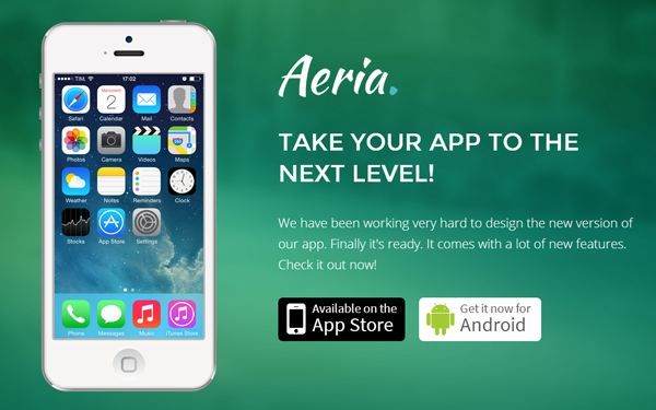 Aeria - Responsive App Landing Page - Live Preview - WrapBootstrap