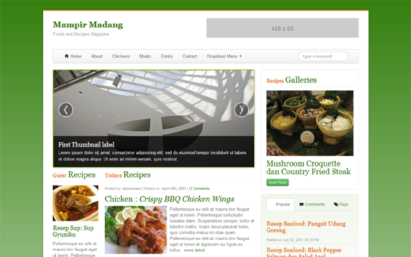 Mampir Madang - Recipes Magazine